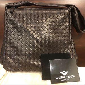 Bottega Veneta Deep Brown Shoulder Bag w/ Mirror